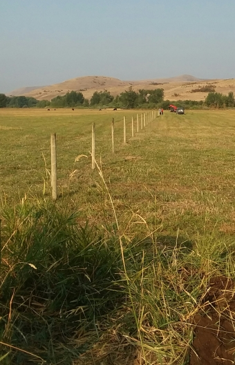 field getting fenced